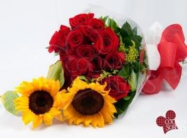 regalos para mujer. adicion de arreglo-floral